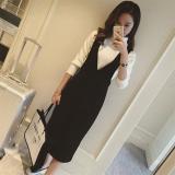 Beli Yingkeren Sederhana Setengah Panjang Model Pinggang Tinggi Terlihat Langsing Karakter Gaun Dress Tali Hitam Baju Wanita Dress Wanita Gaun Wanita Tiongkok