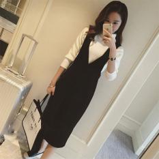 Beli Yingkeren Sederhana Setengah Panjang Model Pinggang Tinggi Terlihat Langsing Karakter Gaun Dress Tali Hitam Baju Wanita Dress Wanita Gaun Wanita Online Tiongkok