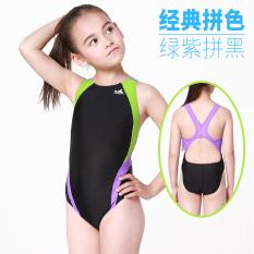 Review Yingfa Gadis Pelatihan Profesional Perempuan Berenang Baju Renang Anak Baju Renang Hijau Ungu Hitam Untuk Melawan Oem Di Tiongkok
