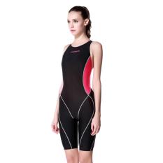 Yingfa permainan pelatihan perempuan berenang baju renang perempuan siam baju renang (Hitam bedak)