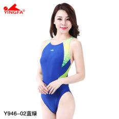 Yingfa Baju Renang Profesional Wanita Balapan Pertandingan (Y946-02 biru dan hijau)