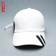 Orang Trendi Modis Panjang Sabuk Surat Topi Baseball Topi (Putih) OE427FAAATN375ANID-66861541