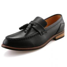 Miliki Segera Yinglunqishi Pria Jumbai Kulit Sepatu Gaun Lofers J17 Hitam