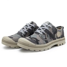 Toko Yinglunqishi Kasual Fesyen Pria Kulit Ankle Boots Abu Abu Jc073 Online Di Tiongkok