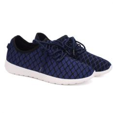 Harga Yinglunqishi Men S Fashion Mesh Sporty Flat Lace Up Sepatu Biru Jc250 Termahal