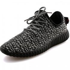 Pusat Jual Beli Yinglunqishi Pria Mesh Sport Sepatu Lari Sneaker Sepatu Hitam Tiongkok