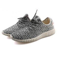 Review Tentang Yinglunqishi Pria Mesh Sport Sepatu Lari Sneaker Sepatu Grey Intl