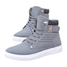 Jual Yingwei Kaus Boots Kulit Suede Ankle Boots Musim Gugur Musim Dingin Fashion Flat Breathable Kasual Flats Sepatu Abu Abu Intl Yingwei Grosir