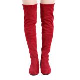 Review Yingwei Wanita Sepatu Bot Musim Dingin Anti Selip Inner Mempertinggi Datar Bawah Tinggi Lutut Boots Panjang Merah Yingwei