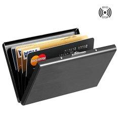 Tinggi Grade Stainless Steel Pria Pemegang Kartu Kredit Wanita Metal Bank Kartu Case Kartu Box Rfid Card Dompet 007 Black2 Yixiangqing Tiongkok Diskon