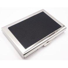 Ulasan Yixiangqing Bermutu Tinggi Stainless Steel Pria Pemegang Kartu Kredit Wanita Metal Bank Kartu Case Card Box Rfid Dompet Kartu Hitam Intl