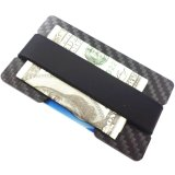 Ulasan Tentang Yixiangqing Minimalist Carbon Fiber Slim Wallet Money Clip Rfid Blocking Id Credit Card Holder 1 Plate Black Intl