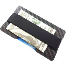 Review Yixiangqing Minimalist Carbon Fiber Slim Wallet Money Clip Rfid Blocking Id Credit Card Holder 1 Plate Black Intl Tiongkok