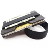 Cara Beli Yixiangqing Minimalis Carbon Fiber Slim Wallet Money Clip Rfid Blocking Id Pemegang Peta Kredit 2 Plate Hitam