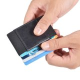 Toko Yixiangqing Minimalis Dompet Pemegang Peta Tipis Elastis Sihir Kredit Pemegang Peta With Uang Tunai And Koin Kunci Pocket Business Card Holder Dompet Hitam Online