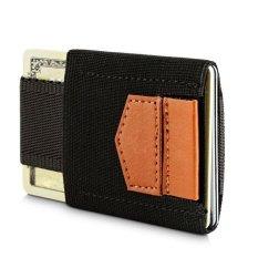 Beli Yixiangqing Slim Kredit Id Card Holder Elastis Minimalis Dompet Kartu Pemegang Coklat Internasional Murah