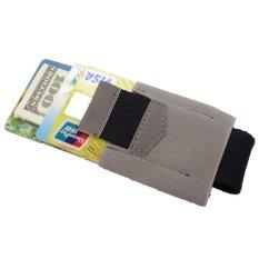 Beli Yixiangqing Slim Kredit Id Card Holder Elastis Minimalis Dompet Kartu Pemegang Abu Abu Cicil