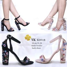 YKshoes 0518 high heels 10cm hak gemuk bordier