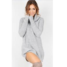 Rp 162.000. YL Musim Gugur dan Musim Dingin Seksi Berleher Tinggi Sweter Lengan Panjang Mini Solid Color Dress Hangat Sweater Panjang Bottoming ...