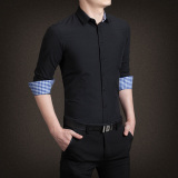 Spesifikasi Ymv Kemeja Lengan Panjang Pria Aneka Warna Membentuk Tubuh Modern C13 Hitam Terbaik