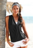 Jual Yoins Wanita New High Fashion Pakaian Kasual Tanpa Lengan V Neck Hitam T Shirt Top Intl Branded Murah