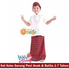 Toko Yooberry Paket Sarkoci Set Koko Sarung Instan Peci Anak Balita Nea Orange