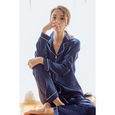 Jual You Ve Piyama Set Sweat 1801 Sleepwear Baju Tidur Wanita Navy Baru