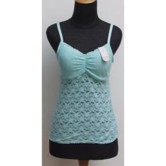 Young Hearts camisole bra busa sedang,tnp kawat, brokat lace halus (turquis)