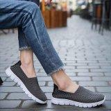 Jual Lebih Muda Fashion Casual Datar Sepatu Kekasih Bernafas Slip Pada Anyaman Sepatu Intl Tebu Asli