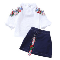 Set Jersey Rayon Gadis Musim Panas Baru (Ini Putih)