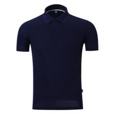 Youth Unisex Fashion Santai Nyaman Katun Murni Lengan Pendek Kelapak T-shirt Polo Shirt-Intl
