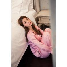 You Ve Kimono Set Sweat 1801 Pink Sleepwear Baju Tidur Set Wanita You Ve Diskon 40