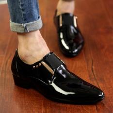 Harga Yozo Pria Sepatu Kasual Fashion Bright Sepatu Kulit Pu Nyaman Tren Pria Bisnis Sepatu Hitam Intl Yang Murah