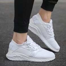 Yozo Pria Sepatu Sepatu Lari Udara Berkualitas Tinggi Mesh Outdoor Olahraga Sepatu LACE UP Tide Sepatu Kets (Putih) -Intl