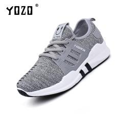 Spesifikasi Yozo Wanita Sepatu Running Sepatu Kain Berkualitas Sepatu Olahraga Outdoor Breathable Lace Up Sepatu Olahraga Grey Intl Baru
