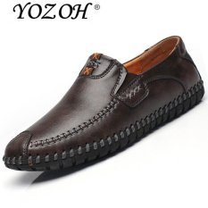 Yozoh Kulit Sepatu Loafers Pria Fashion Sepatu Kasual Rendah Memotong Formal Sepatu Abu Abu Intl Yozoh Diskon 50