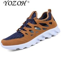 Harga Yozoh Casual Pria Bernapas Mesh Sepatu Anti Skid Olahraga Sepatu Sneakers Brown Intl Baru