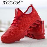 Yozoh Olahraga Sepatu Lari Musik Irama Pria Sneakers Bernapas Mesh Kolam Cabai Merah Intl Yozoh Diskon 40