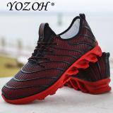 Jual Yozoh Olahraga Sepatu Lari Musik Irama Pria Sneakers Bernapas Mesh Kolam Merah Intl Branded