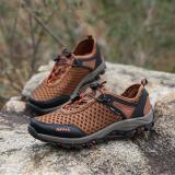 Toko Olahraga Outdoor Camping Sepatu Untuk Pria Taktis Hiking Hulu Sepatu Untuk Panas Musim Yang Sulit Bernapas Lapisan Tahan Air Khaki Intl Moven Online