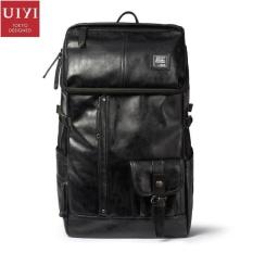 Spesifikasi Yslmy Uiyi Desain Asli Travel Men Laptop Backpack Berkapasitas Tinggi Pu Kulit Knapsack Fashion Korea Tas Untuk Pria Softback 140011 Intl Yang Bagus