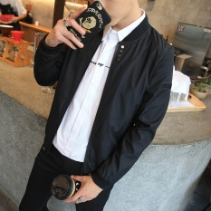 Spesifikasi Yuhengshijia Jaket Mantel Tipis Gaya Jepang Laki Laki Tombol Remaja Hitam Oem