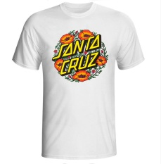 Yuandi DIY Santa Cruz Mens Fashion Putih T Shirts Sepeda Gunung Kapas Lengan Pendek T-Shirt #7-Intl