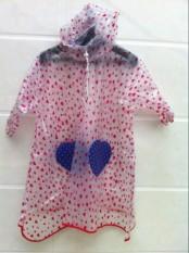Yucheng Dapat Kembali Tas Anak Laki-laki Jas Hujan Anak Jas Hujan (Children Warna Dasar Putih merah)
