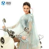 Spesifikasi Yucheng Jas Hujan Satu Orang Bersepeda Pinggiran Topi Lebar Transparan Ukuran Ekstra Besar Tanpa Lengan Ukuran Plus Penuh Topi Biru Tetesan Air Merk Oem