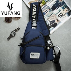 Jual Yufang Tahan Air Oxford Casual Chest Bag Multi Fungsional Perjalanan Tas Fashion Messenger Bag Chest Pack Biru Intl Grosir