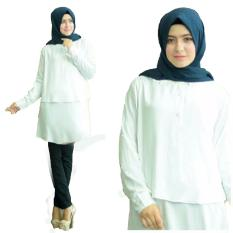 Harga Yuki Fashion Blouse Anisa White Best Seller Paling Murah