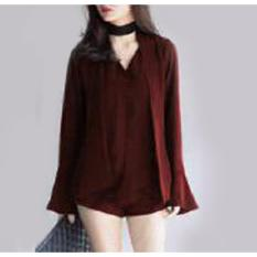 Toko Yuki Fashion Blouse Nony Maroon Best Seller Terlengkap