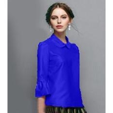 Yuki Fashion Blouse Rosela - Biru - Best Seller