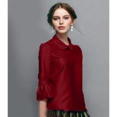 Yuki Fashion Blouse Rosela - Maroon -  Best Seller